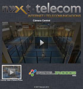 Captura de la aplicación web para visualizar en directo los eventos de Padel Indoor